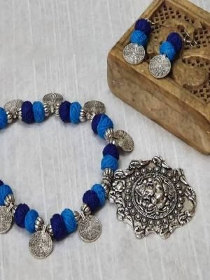Amod Oxidized Necklace Set