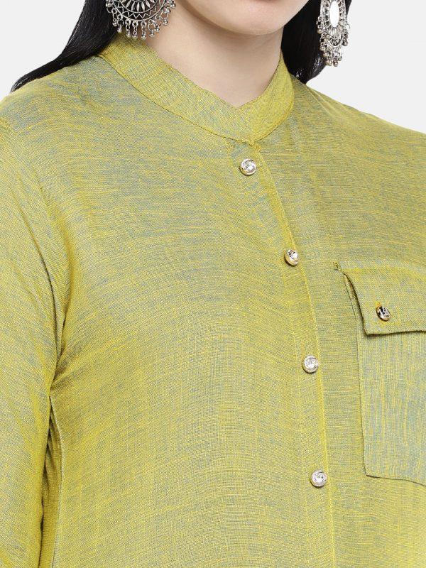 Green rayon tunic