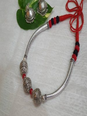Dhovana oxidised set
