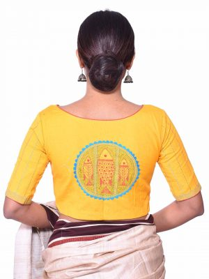 Yellow Kantha Blouse