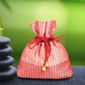 Red Brocade Potli Bag