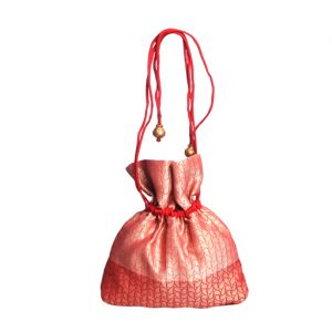 Red Brocade Potli Bag
