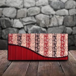 Maroon Silk Clutch