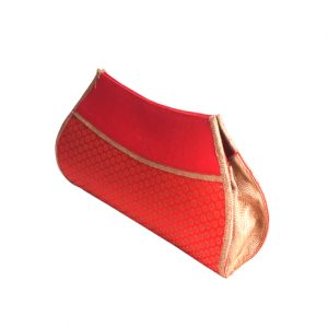 Red Brocade Clutch