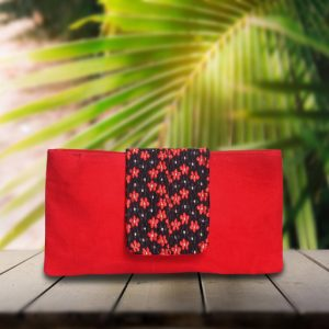 Red Flap Purse