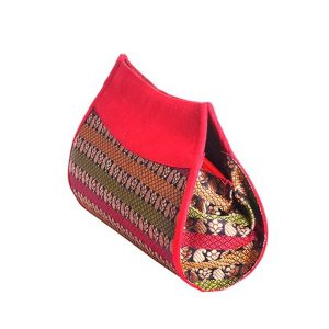 Red Brocade Purse