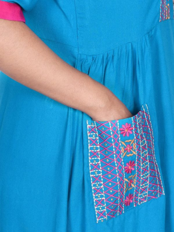 Firoza Blue Tunic