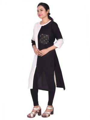 Black-White kurti