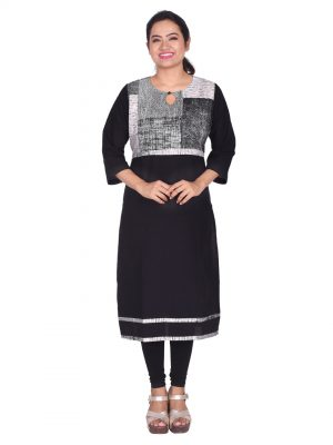 Abstract printed kurti