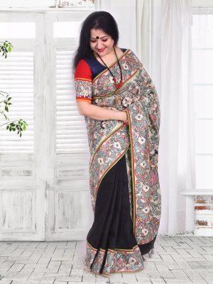 Madhubani hand-paint sari