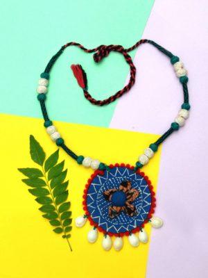 Kantha Fabric Necklace