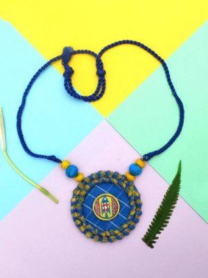 Blue Gamcha Necklace