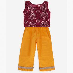 Purple Velvet Crop Top & Pants