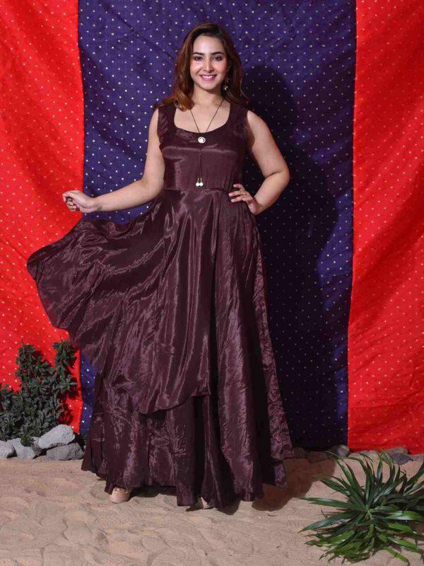overlap santone gown