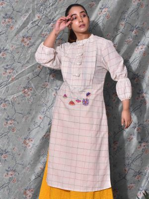 Embroidered Victorian Yoke Kurti