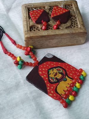 Ghunghat Polymer Clay Necklace Set