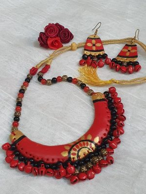 Ghungroo Polymer Clay Necklace Set
