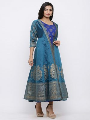 Chanderi Layered Kurti