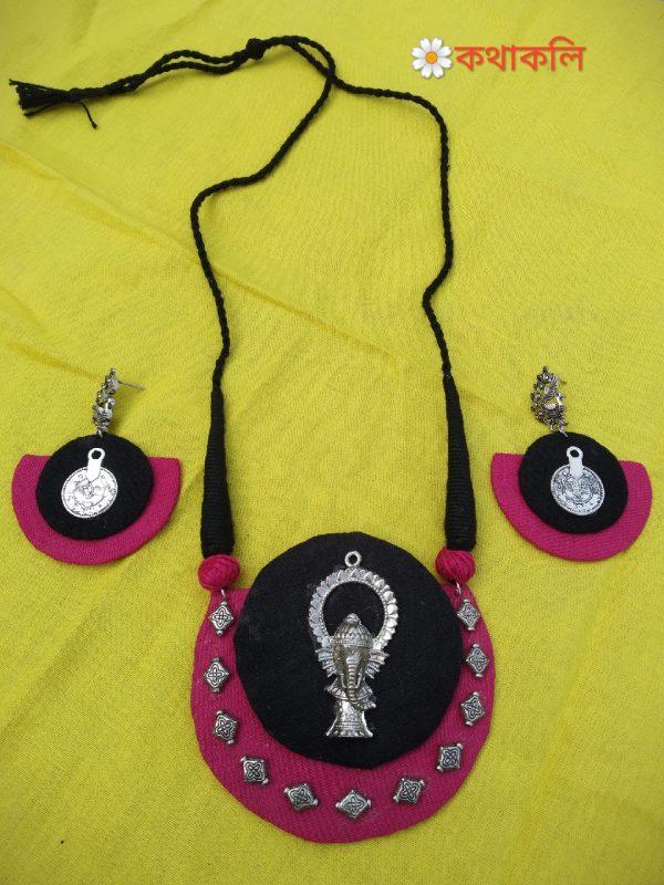 handmade fabric necklace set