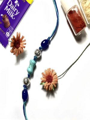 Natural Gemstone Turquoise Rakhi