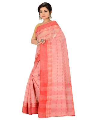 Red Taant Pure Cotton Saree