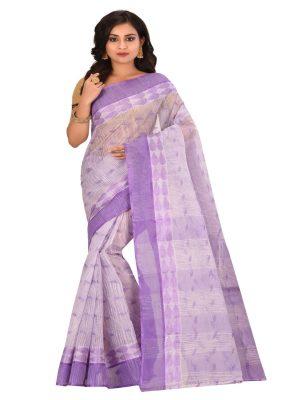 Purple Taant Pure Cotton Saree