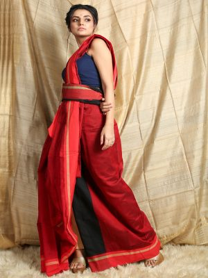 Red Butterfly Weaving Saree
