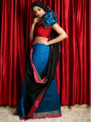 Blue Patli Pallu Handloom Saree