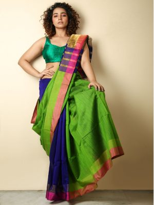 Green Patli Pallu Handloom Saree