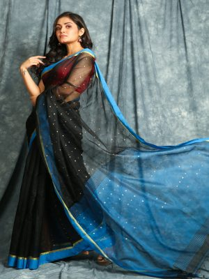 Black Resham Saree