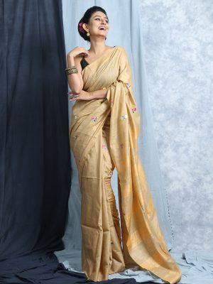 Daffodil Silk Embroidery Saree