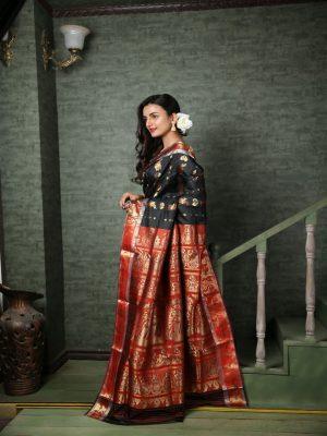 Red Swarnachari Silk Saree