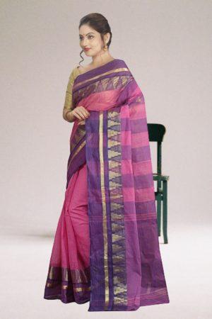 Purple Tant Cotton Saree