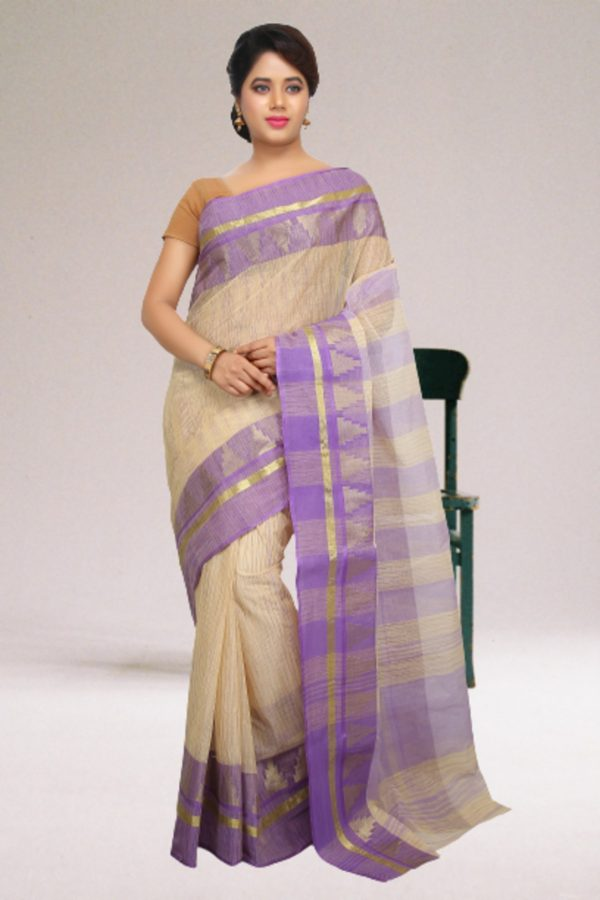 Light Purple Tant Cotton Saree