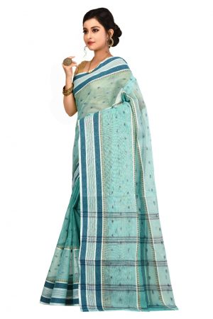 Sky Blue Tant Cotton Saree