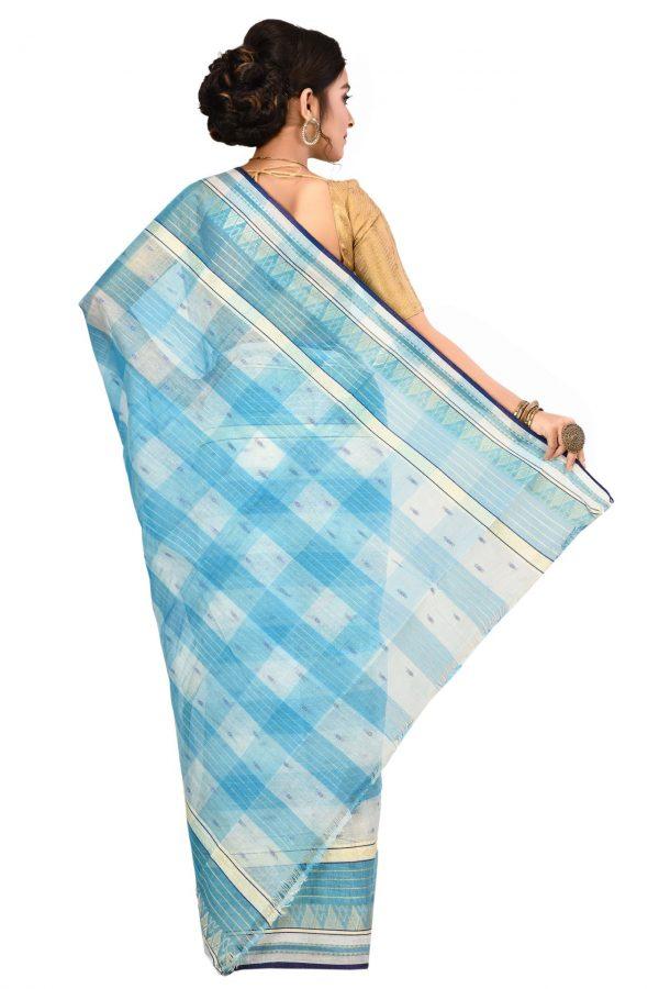 Light Blue Tant Cotton Saree